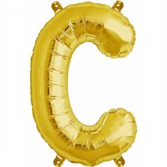 "16""/41 cm Gold Letter C Shaped Foil Balloon, Northstar Balloons 00569"