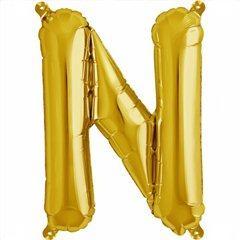 Balon folie litera N auriu - 41cm, Northstar Balloons 00580