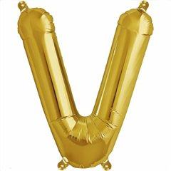 Balon folie litera V auriu - 41cm, Northstar Balloons 00588