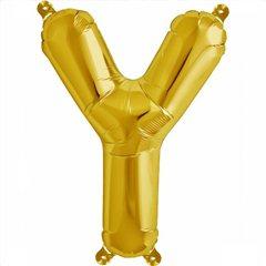Balon folie litera Y auriu - 41cm, Northstar Balloons 00591