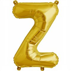 """Balon Folie Litere A-Z Auriu, 41 cm / 16"""", Northstar Balloons, 1 buc"""