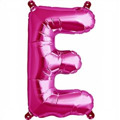 Balon folie litera E magenta - 41cm, Qualatex 59556