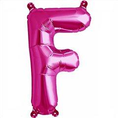 "16""/41 cm Magenta Letter F Shaped Foil Balloon, Northstar Balloons 00510"