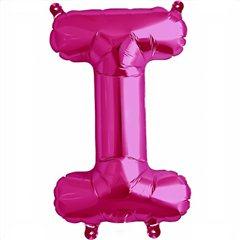 "16""/41 cm Magenta Letter I Shaped Foil Balloon, Northstar Balloons 00513"