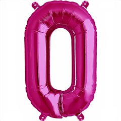 "16""/41 cm Magenta Letter O Shaped Foil Balloon, Northstar Balloons 00519"