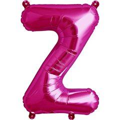 """16""""/41 cm Magenta Letter Z Shaped Foil Balloon, Northstar Balloons 00530"""