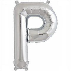 Balon folie litera P argintiu - 41cm, Amscan 33042