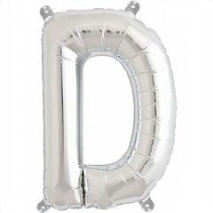 Balon folie litera D argintiu - 41cm, Northstar Balloons 00482