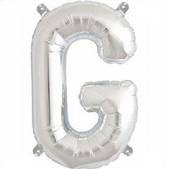 "16""/41 cm Silver Letter G Shaped Foil Balloon, Northstar Balloons 00485"