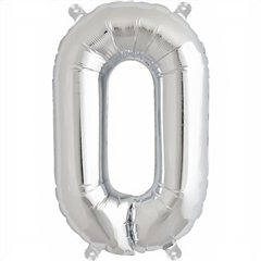 Balon folie litera O argintiu - 41cm, Amscan 33040