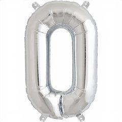Balon folie litera O argintiu - 41cm, Northstar Balloons 00493