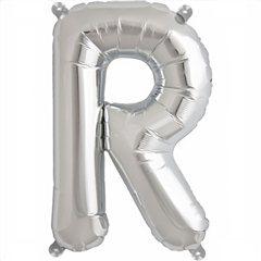 Balon folie litera R argintiu - 41cm, Amscan 33046