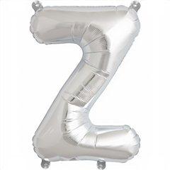 "16""/41 cm Silver Letter Z Shaped Foil Balloon, Northstar Balloons 00504"