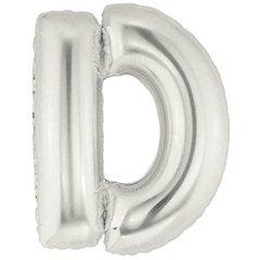 Balon folie mare litera D argintiu - 86cm, Northstar Balloons 00199