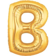 """34""""/86 cm Gold Letter B Shaped Foil Balloon, Northstar Balloons 00249"""