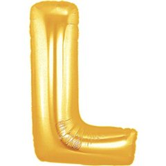 Balon folie mare litera L auriu - 86cm, Northstar Balloons 00259