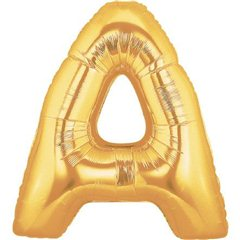 "34""/86 cm Gold Letter A Shaped Foil Balloon, Northstar Balloons 00248"