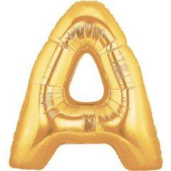 Balon folie mare litera A auriu - 86cm, 32947