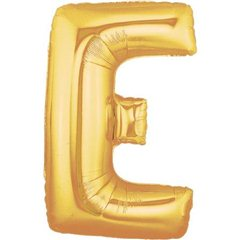 "34""/86 cm Gold Letter E Shaped Foil Balloon, Northstar Balloons 00252"