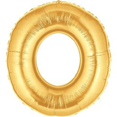 "34""/86 cm Gold Letter O Shaped Foil Balloon, Northstar Balloons 00262"