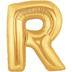 "34""/86 cm Gold Letter R Shaped Foil Balloon, Northstar Balloons 00265"