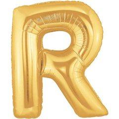 Balon folie mare litera R auriu - 86cm, Northstar Balloons 00265