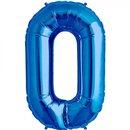 "Baloane Folie Mari cu Cifre 0-9 Blue - 34""/86cm, Northstar Balloons, 1 buc"