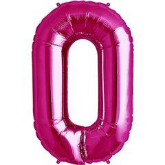 Balon folie mare cifra 0 magenta - 86cm, Northstar Balloons 00134