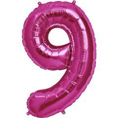 "Balon Folie Mare Cifra 9 Magenta - 34""/86cm, Northstar Balloons 00143"