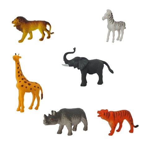 Figurine Animalele Junglei, Amscan 39880, Set 6 buc