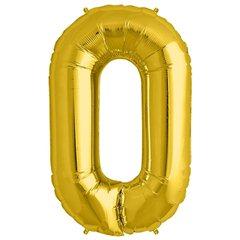 Balon folie mare cifra 0 auriu - 86cm, Amscan 28242