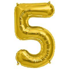 Balon folie mare cifra 5 auriu - 86cm, Amscan 28252