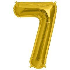 Balon folie mare cifra 7 auriu - 86cm, Northstar Balloons 00111