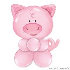 Figurina din baloane - porcusorul vesel