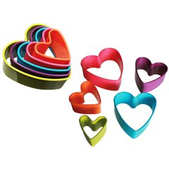 Plastic cookie cutter heart, Radar 71/2752, 5 pieces