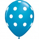 Printed Latex Balloons, Big Polka Dots Blue Radar GI.DOTS.ALBASTRU