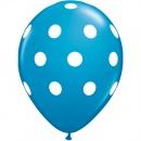 Printed Latex Balloons, Big Polka Dots Blue Radar GI.DOTS.ALBASTRU
