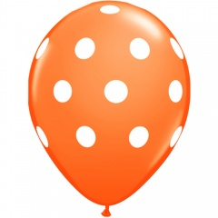 Baloane latex portocalii inscriptionate Big Polka Dots, Radar GI.DOTS.ORANGE