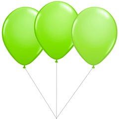 Buchet din 3 baloane latex verde lime cu heliu, Gemar BB.G90.LIME