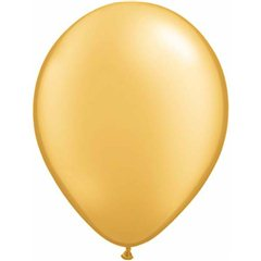 "11"" Round Gold Qualatex Plain Latex, Qualatex 43749"