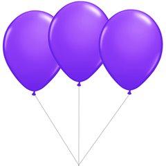 Buchet din 3 baloane latex mov cu heliu, Gemar BB.G90.PURPLE