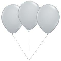 Buchet din 3 baloane latex silver cu heliu, Gemar BB.G90.SILVER