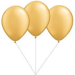 Buchet din 3 baloane latex aurii cu heliu, Gemar BB.G90.GOLD