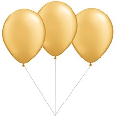 Gold Latex balloons bouquet, Gemar BB.G90.GOLD