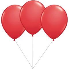 Buchet din 3 baloane latex rosii cu heliu, Gemar BB.G90.RED