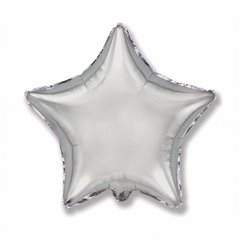 Silver Star Ultra Shape Foil Balloon - 80cm, Radar F306500P