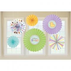 Tiny Bundle Paper Fans, Amscan 299307