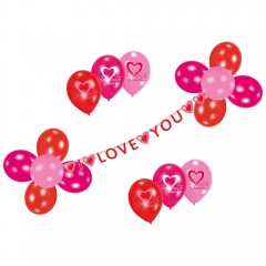 "Set decor ""I love you"",  Amscan 450284, Set 23 piese"