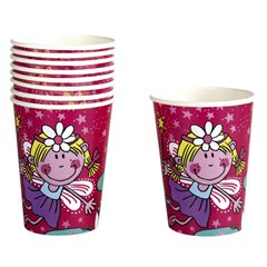 Funky Fairy Paper Cups 250ml, Amscan 551669, Pack of 8 pieces
