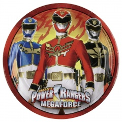 Power Rangers Paper Plates 23 cm, Amscan 552532, Pack of 8 Pieces
